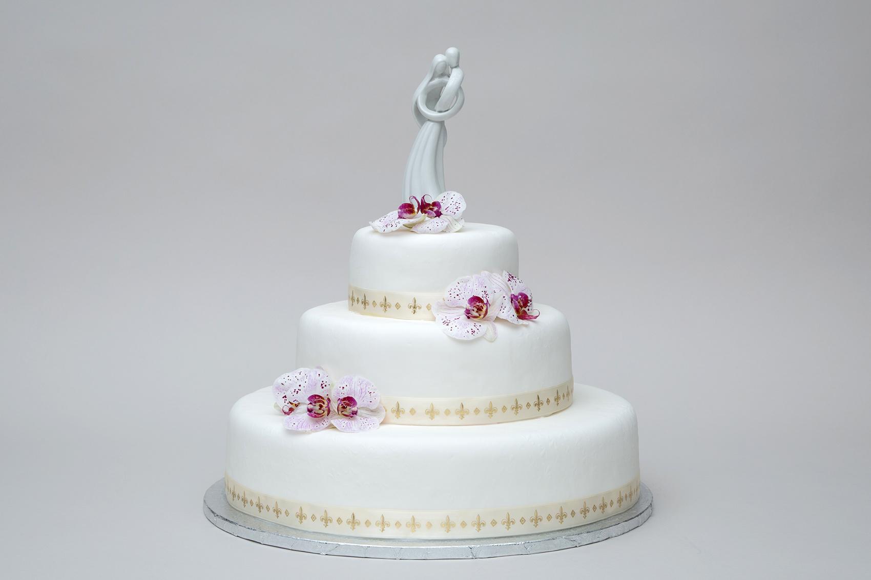 Weiße Orchideen Torte